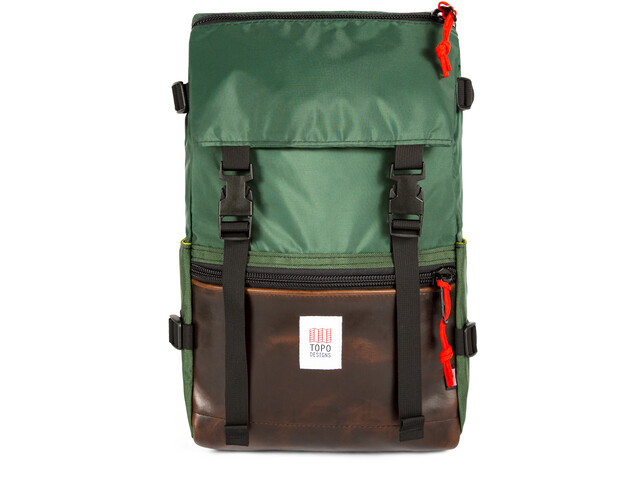 Topo Designs Rover Sac, forest/brown leather